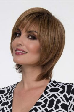 Dena by Envy Wigs - Human/Heat Friendly Synthetic Hair Blend, Mono Top, Hand Tied Wig