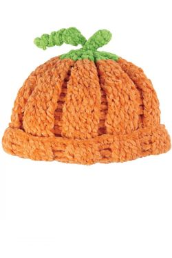 Crocheted Pumpkin Hat for Kids