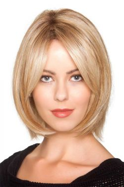 Double Shot Bob by Belle Tress Wigs - Heat Friendly Synthetic, Hand Tied, Lace Front Wig