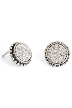 Star Bright Druzy Stud Earrings | Sterling Silver Earrings
