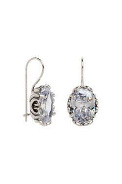Amore Cubic Zirconia Dangle Earrings | Sterling Silver Earrings