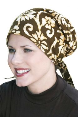 Easy to Tie (E-T-T) Scarf Cap in Cotton Batik Prints