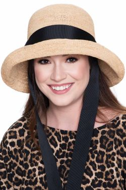 Elin Hand Crocheted Sun Hat with Chin Sash | Packable Summer Hat for Women
