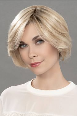 Real by Ellen Wille Wigs - Human/Heat Friendly Synthetic Hair Blend, Monofilament Topper
