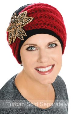 Embellished Cozy Band - Turban and Headwear Accessory Headband - Holiday/Christmas