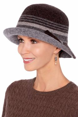 Ember Wool Stripe Cloche | Winter Hats for Women