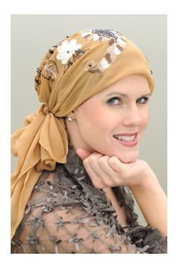 Embroidered Monaco Head Scarf - Triangle Headscarf