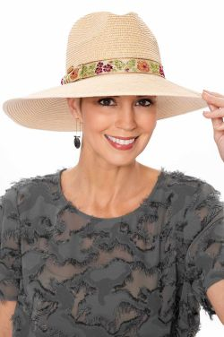 Embroidered Band Panama Hat | Summer Hats for Women
