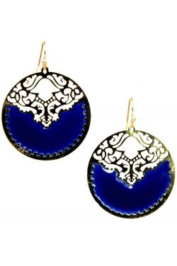 Gold Plated Stainless Steel Earrings | Gold Sphere Filigree