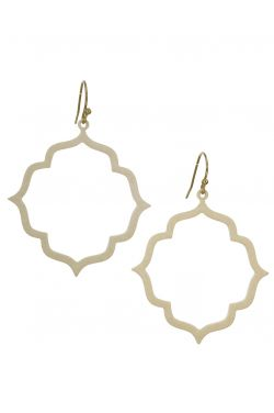 Surgical Steel Earrings | Enamel Quatrefoil Drop Earrings