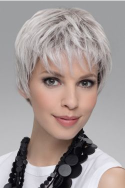 Encore by Ellen Wille Wigs - Human Hair/Synthetic Blend, Hand Tied, Double Monofilament Top,  Lace Front Wig