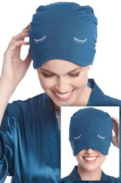 Eyelash Sleep Cap | Sleeping Hat & Travel Sleep Mask | Cardani Bamboo Viscose