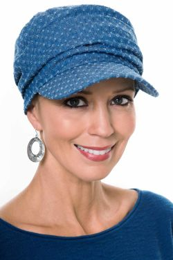 Denim Eyelet Tenley Baseball Cap | Soft Sporty Ball Cap for Women