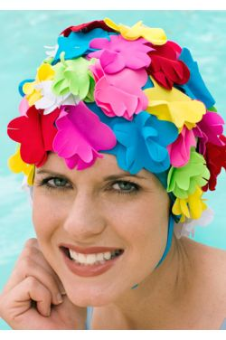 Speedo Vintage Bloomer Swim Cap with Flower Petals