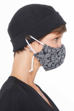 Face Mask Holder Button Beanie | Unisex Parkhurst Cotton Knit Cap