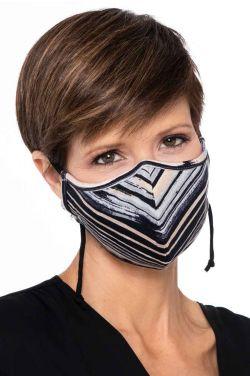 Clearance Colors   Bamboo Face Mask   Multi Stripe