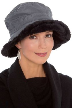 Faux Fur All Weather Hat | Rain Hats for Women