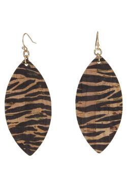 Fierce Tiger Stripe Earrings | Lightweight and Natural