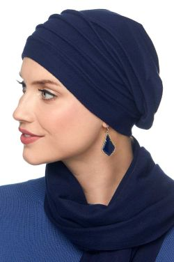 Fleece Chamois Slouchy Cap: Snood Head Covering