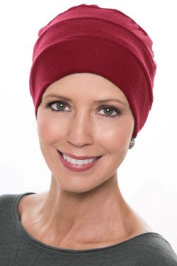 Microfleece 3 Seam Turban in Christmas Red | Fall & Winter Head Covering for Women