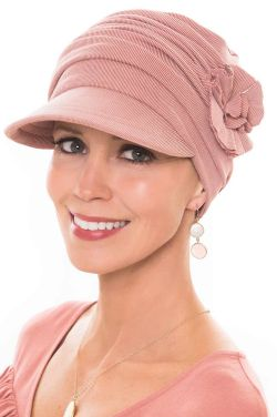Cardani Buttery Soft Florette Newsboy Hat in Cupro Modal