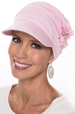 Large Florette Newsboy Hat | Cardani® Bamboo Viscose Cap for Large Heads
