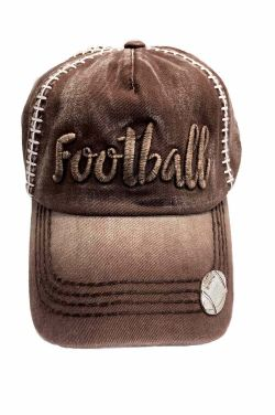 Embroidered Football Cap | Baseball Caps for Women |