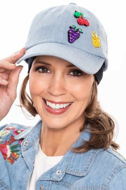 Fruit Salad Denim Baseball Cap | Baseball Caps for Women |