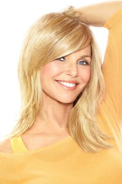 Full Sweeping Side Fringe Clip In Bang by Christie Brinkley Wigs
