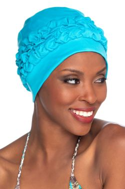 Gathered Retro Swim Turban |  Bathing Cap  | Vintage Swimming Hat