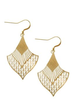 Gold Victorian Fan Earrings | Nickel Free & Hypoallergenic Earrings