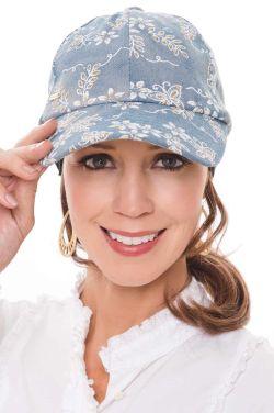 Golden Butterflies Denim Baseball Cap | Baseball Hats for Women