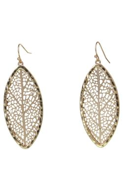 Golden Edge Leaf Earrings | Laser Cut Hypoallergenic Earrings