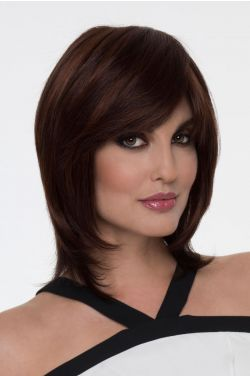 Grace by Envy Wigs - Human/Heat Friendly Synthetic Hair Blend, Mono Top, Hand Tied Wig