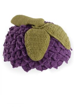Grape Pull On Beanie for Kids