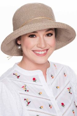 Grecia Natural Hemp Sun Hat | UPF 50+  Summer Hats for Women |