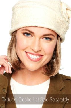 Halo Hair | Cardani Classic Bob Halo Hairpiece for Hats | Hats with Hair