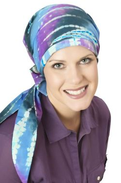 Hannah Headwrap in Tie Dye & Batik Cotton