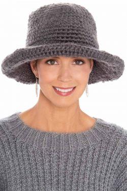 Hand Crocheted Hazel Brimmed Hat | Womens Fall & Winter Hat |