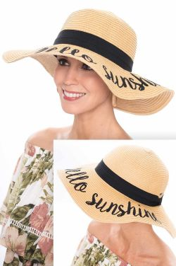 Hello Sunshine Floppy Beach Hat | Summer Hats for Women
