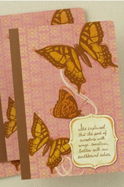 Her Words: Journal Composition Book- Pink Butterfly