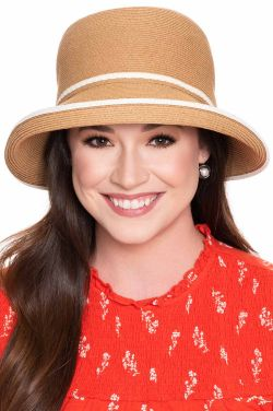 Holland UPF 50+ Braided Cloche Hat | Packable Summer Hat for Women