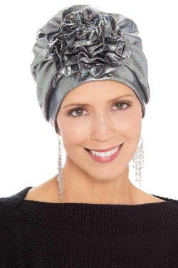 Holographic Flower Turban | Stylish Turbans for Women