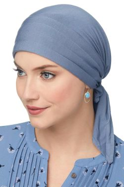 Instant Tie Headscarf - Padded Easy Tie Triangle Scarf in Luxury Bamboo by Cardani