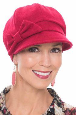 Jadyn Newsboy Hat in Red
