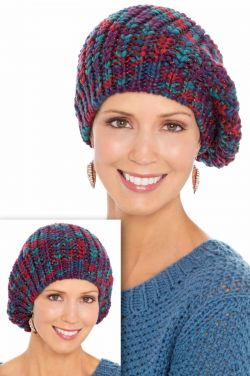 Jewel Tone Knit Beret | Winter Berets for Women