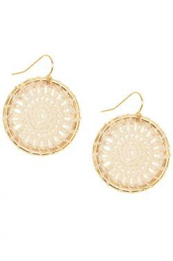 Dreamcatcher Crochet Hoop Earrings   Nickel and Lead Free Earrings
