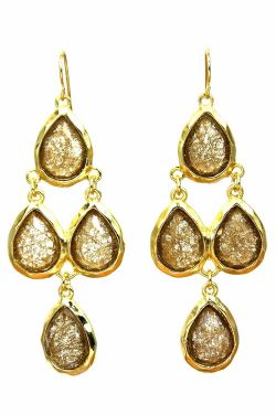 Chandelier Crystal Dangle Earrings | Gold Plated and Hypoallergenic