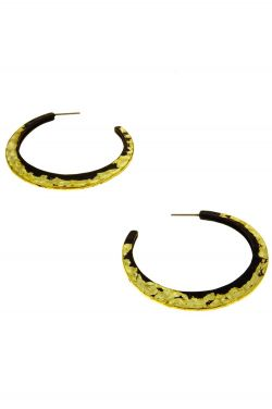 Distressed Gold Hoops | Nickel and Lead Free |