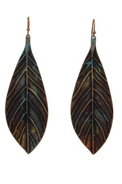 Leaves of Change Dangle Earrings | Hypoallergenic Multi-Colored Earrings
